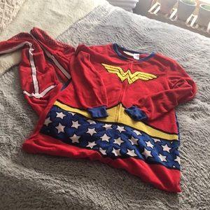 Wonder Woman footie pajamas